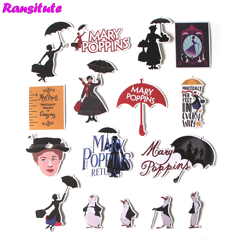 R375 16Pcs/set Fashion Personality Sticker Motorcycle And Suitcase Cool Laptop Sticker Skateboard Sticker