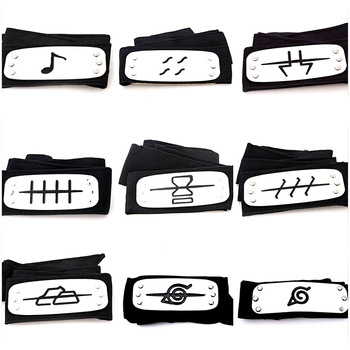 Newest Anime naruto headband Leaf Village Logo Konoha Uchiha Itachi Kakashi Akatsuki Members cosplay costume Accessories leaf village naruto headband