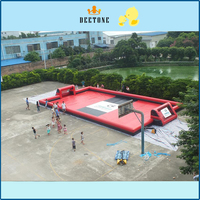 hot sale indoor sports equipment new mini inflatable soccer field inflatable football field/court/pitch with floor mat