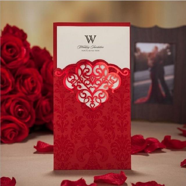 Red Wedding invitation card 2015 Luxury Wedding invitations Elegant Laser cut Invitations Customize Personalize Free_640x640 aliexpress com buy red wedding invitation card 2015, luxury,Luxury Invitation Cards