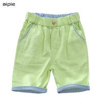 Free Shipping 2014 Summer New Casual Pants Boys Linen Fabric Breathable And Comfortable Kids Shorts Fit