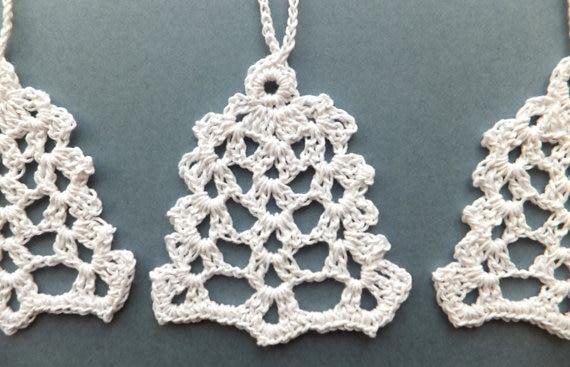 el clsico de encaje blanco copo de nieve adornos para rboles de navidad hechos a mano