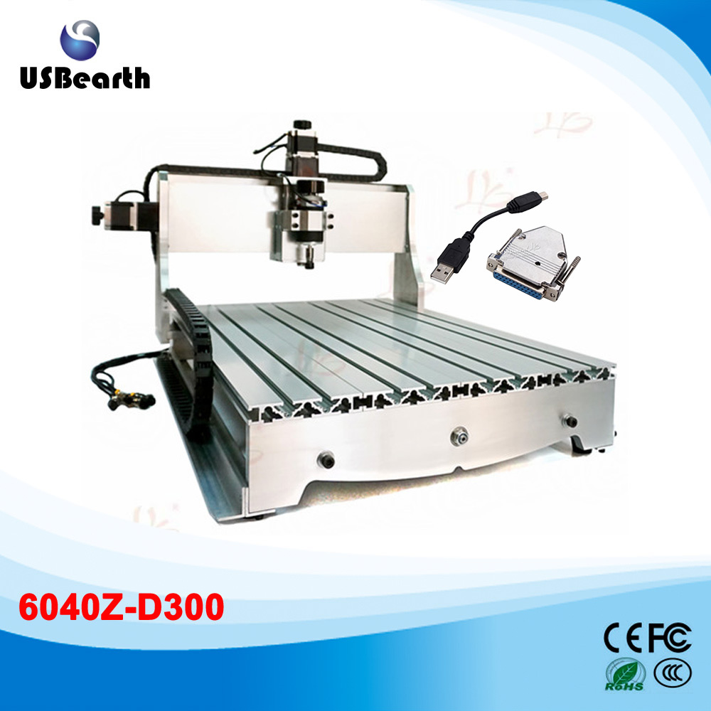 цены  Cheap mini cnc milling machine 6040Z-D300 cnc router with 300W with usb port adapter