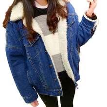 New Cashmere Thick Winter Denim Jean Jacket Women Coat Chaqueta Womens Jaqueta Jeans Bomber Abrigos Mujer Veste En Jean Coats