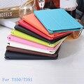 Для Samsung Galaxy Tab A 8.0 T350 T351 Дело бизнес смарт PU Кожаный Чехол Чехол Для Samsung T350 8 дюйма таблетки