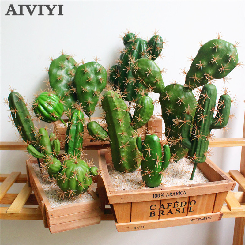 Foreign Trade Excellent Products Artificial Succulent Plant Cactus Green Plant Desktop Creative DIY Fake Plant Table Holiday Hom