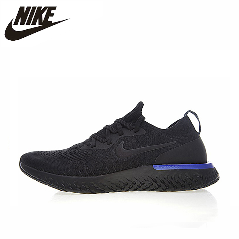 13bb07b765fc6 Nike Epic React Flyknit Women Running Shoes Black Purple Sneakers Sport  Outdoor Breathable AQ0070-600