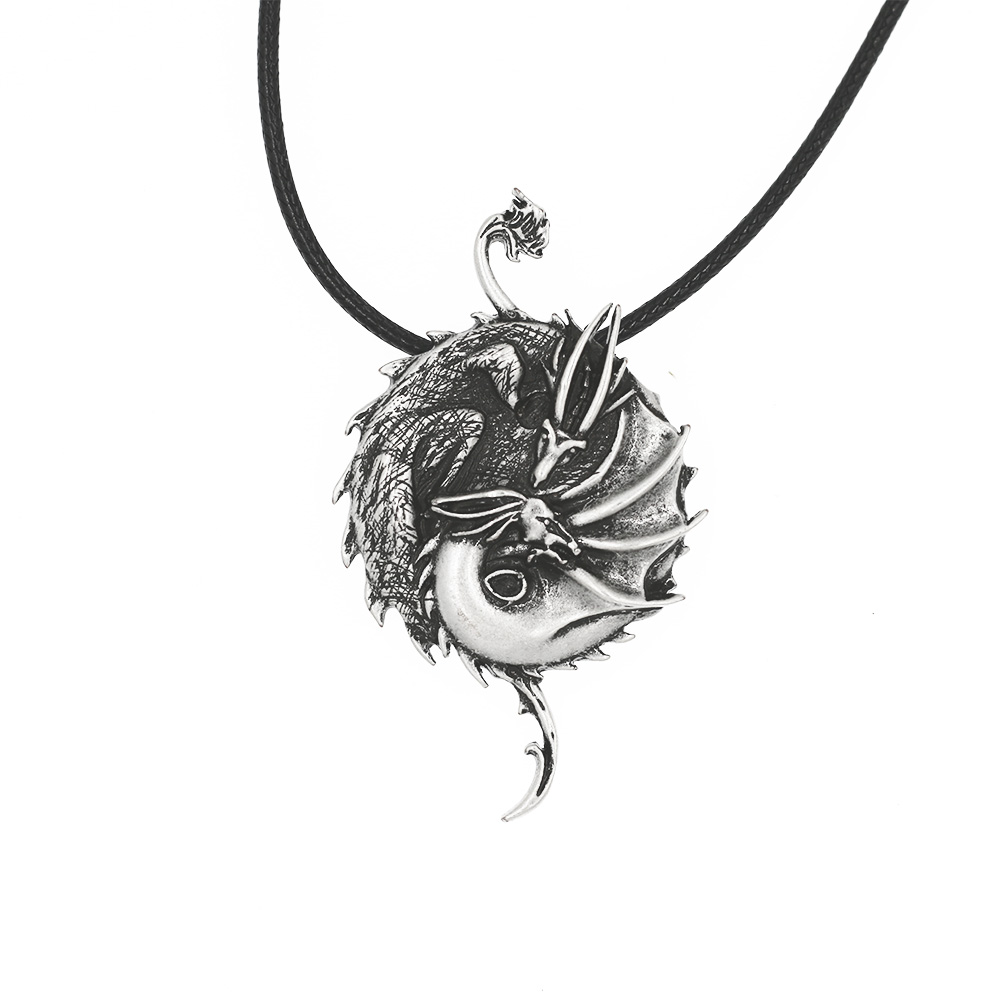 Yin Yang Dragon Pendant Necklace Talisman Chinese Symbol Taoist