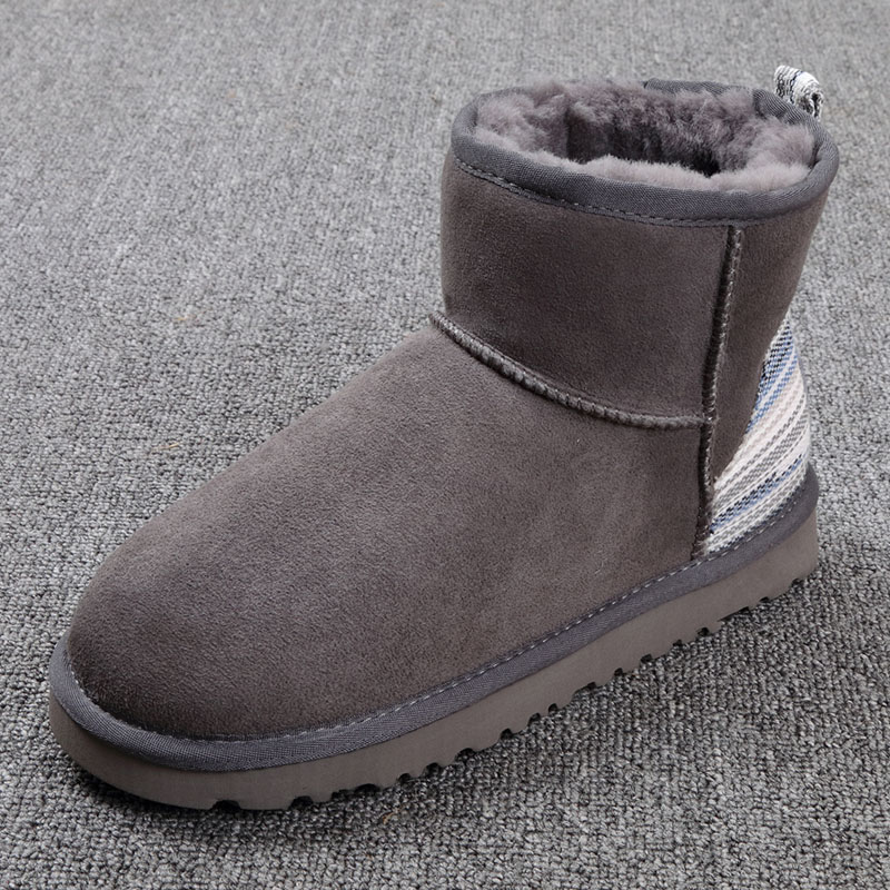 2016 winter new 100% sheep wool in one snow boots female short boots  /Large size/ Free Shipping quality assurance sheep fur snow boots female warm winter flat bandage calf height boots large size free shipping