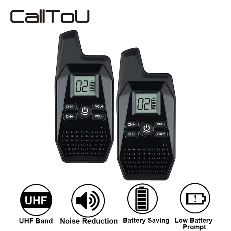 CallToU Wireless Mini Walkie Talkie 1.5km Portable Lightweight Radio For Restaurant/Hospital/Store/Family Built-in Battery WT01