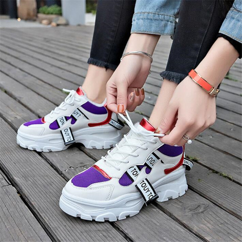 New spring autumn thick-soled fashion female sneakers shoes wild straps increased women's shoes breathable women's casual shoes
