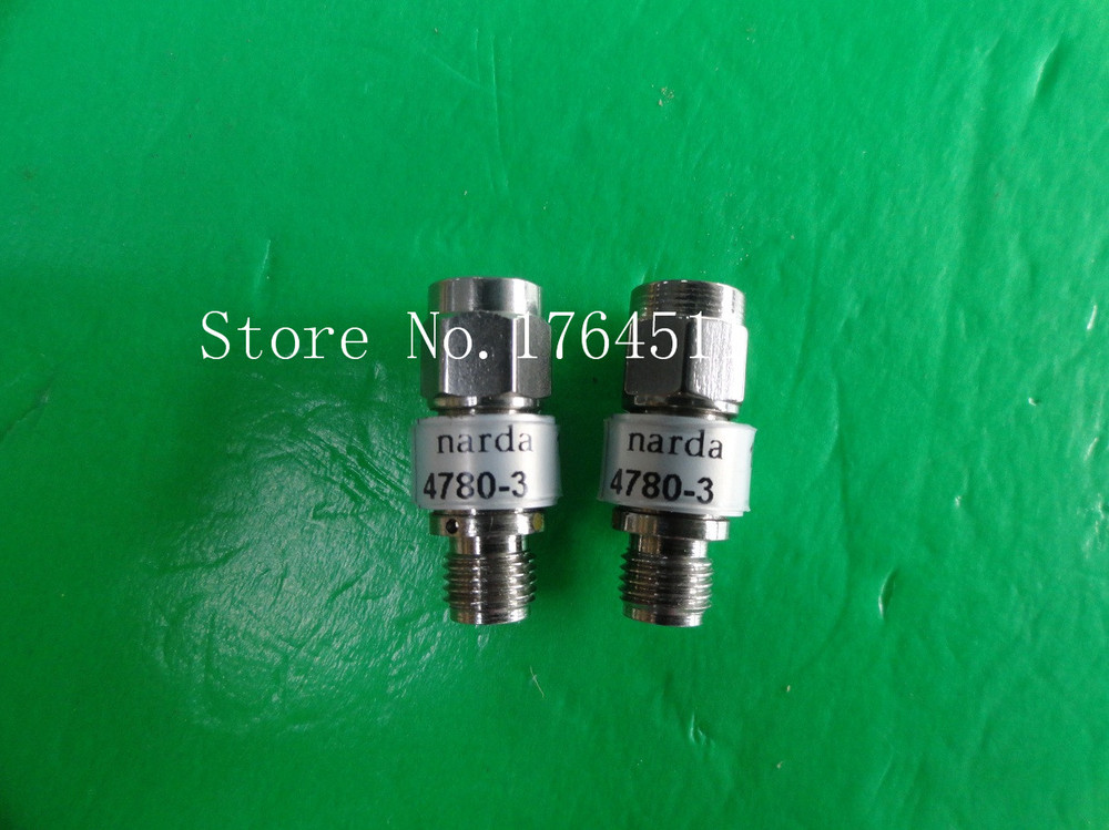 [BELLA] NARDA 4780-3 DC-18GHz Att:3dB P:2W SMA Coaxial Fixed Attenuator  --2PCS/LOT
