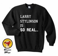 Larry Stylinson One Direction 1D est SI RÉEL Femmes Ras Du Cou Sweat Unisexe Plus Couleurs XS-2XL-C815