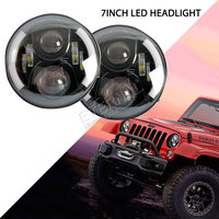 Free Shipping Pair 36W Angel Eyes Headlamp Speakers Round 7inch LED Sealed Headlight For Offroad 4x4