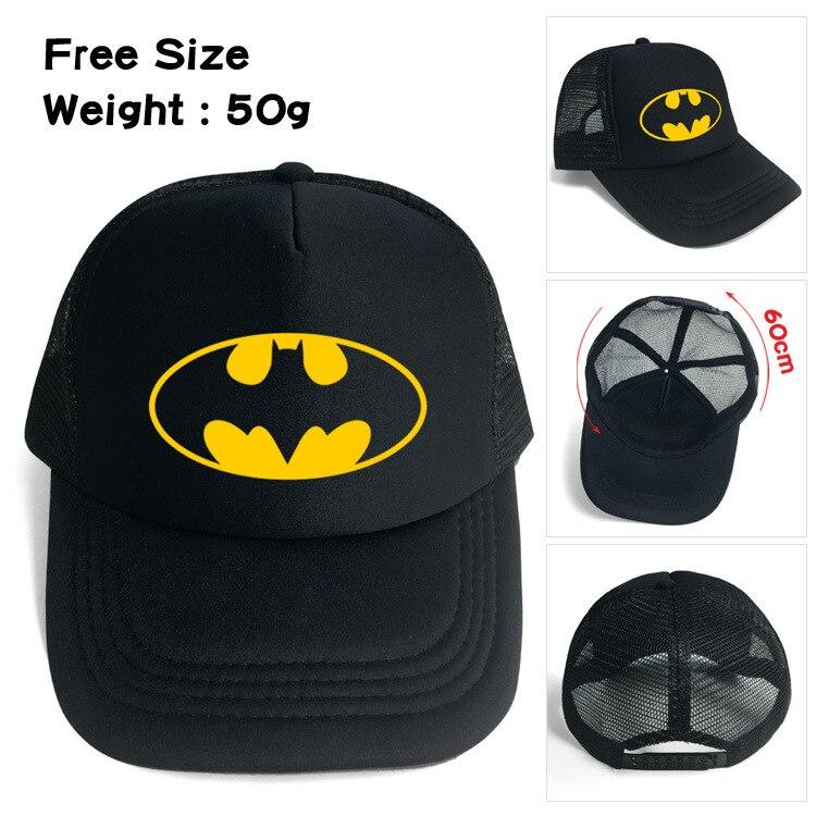 2018 Sale Neymar Batman Sun Mesh Cap Outdoor Sports Students Anime Baseball Hip Hop Dad Hat American Cotton Streetwear Snapback