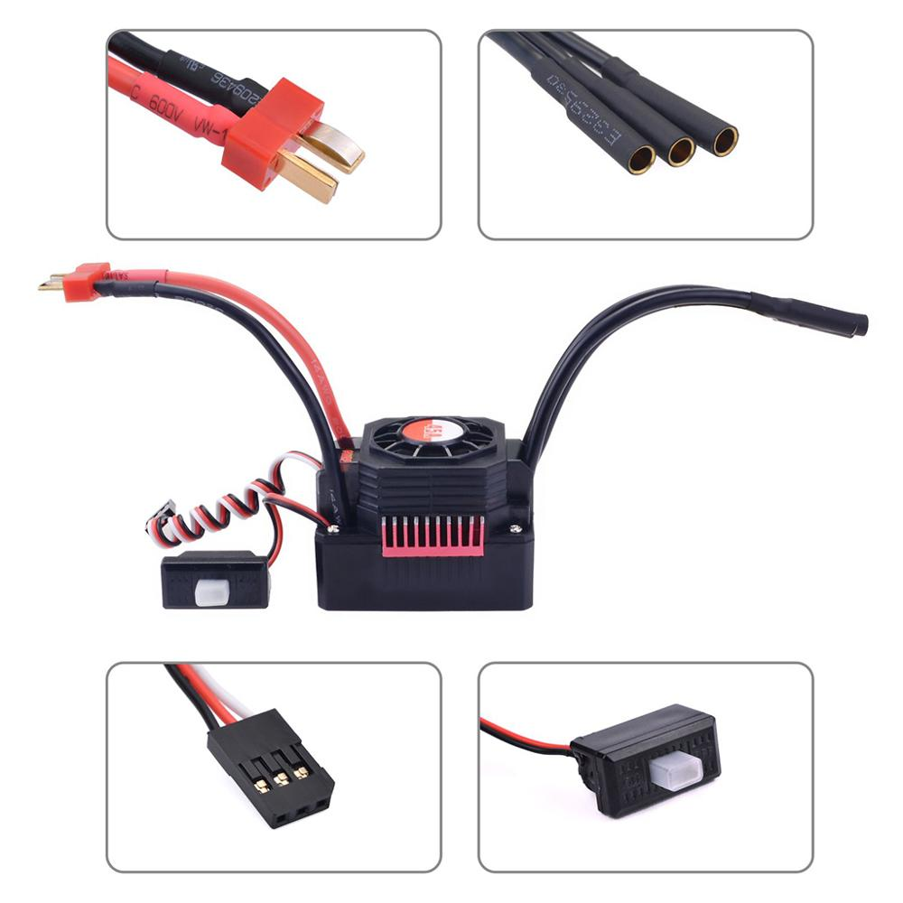 Image 3 - KK 3.175mm Shaft 3650 Waterproof Combo 2050KV 2300KV 3100KV  Brushless Motor w/ 45A ESC for RC 1/10 GTR Monster Truck Buggy Car-in Parts & Accessories from Toys & Hobbies