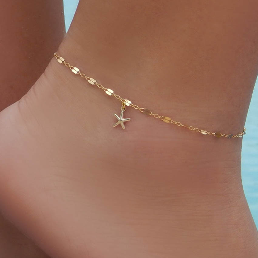 Boho Starfish Women Anklet Foot Chain Jewelry Anklet Bracelet Femme Jewelry Accessories Foot Gift