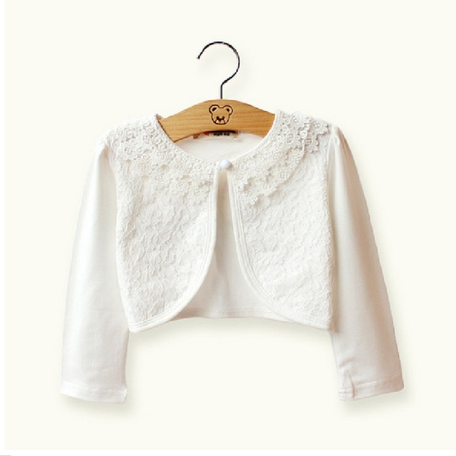 167d45a086 Sardiff Girls Jackets Fashion Girls Outwear White Pink Spring Cotton Kids Cardigan  Shrug Sweater For 2 3 4 5 6 7 8 9 10 Years