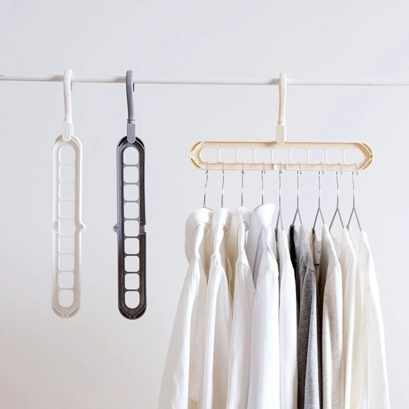 Multifunctional Home Storage Organization Clothes Hanger Drying Rack Plastic Clothes Hangers Storage Racks  Storage Hanger