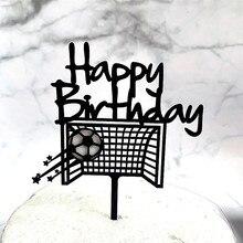 INS New Football Acrylic Cake Topper Creative Soccer Happy B