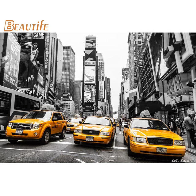 Poster New York Taxi.Custom New York Taxi Cloth Silk Fabric Poster Home Decoration Wall