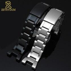 Di alta qualità solido cinturino in acciaio inox per casio GST-B100/S130/W300GL/400G/W330 GST-W120L/ s120/W130L/S100/S110 cinturino di vigilanza
