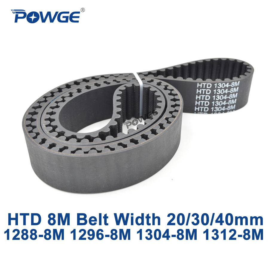 POWGE HTD 8M synchronous Timing belt C=1288/1296/1304/1312 width 20/30/40mm Teeth 161 162 163 164 HTD8M 1288-8M 1296-8M 1304-8M powge htd 8m synchronous belt c 520 528 536 544 552 width 20 30 40mm teeth 65 66 67 68 69 htd8m timing belt 520 8m 536 8m 552 8m