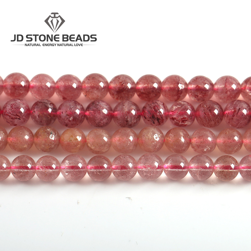 Natural Strawberry Crystal Amethyst Brazil Ice Strawberry Quartz Beads Size 4-14mm For Jewelry Making Hot Sale Diy Charm Beads  Natural Strawberry Crystal Amethyst Brazil Ice Strawberry Quartz Beads Size 4-14mm For Jewelry Making Hot Sale Diy Charm Beads
