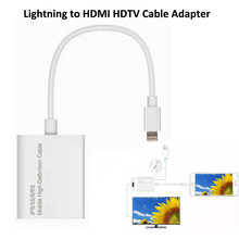 Connector Lightning 8 Pin to HDMI Adapter Digital Cable HDTV AV for Apple iPhone 5 6 6S 7 7 Plus iPad 1080P