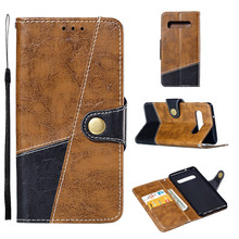 For Samsung Galaxy Leather Slot Wallet Stand Flip Cover Skin Case For Samsung Galaxy S10 5.8 inch C315