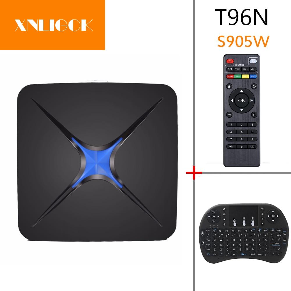 XNLIGOK T96N Android 7.1 Smart TV Box Rockchip RK3328 Quad Core avec USB 3.0 WiFi