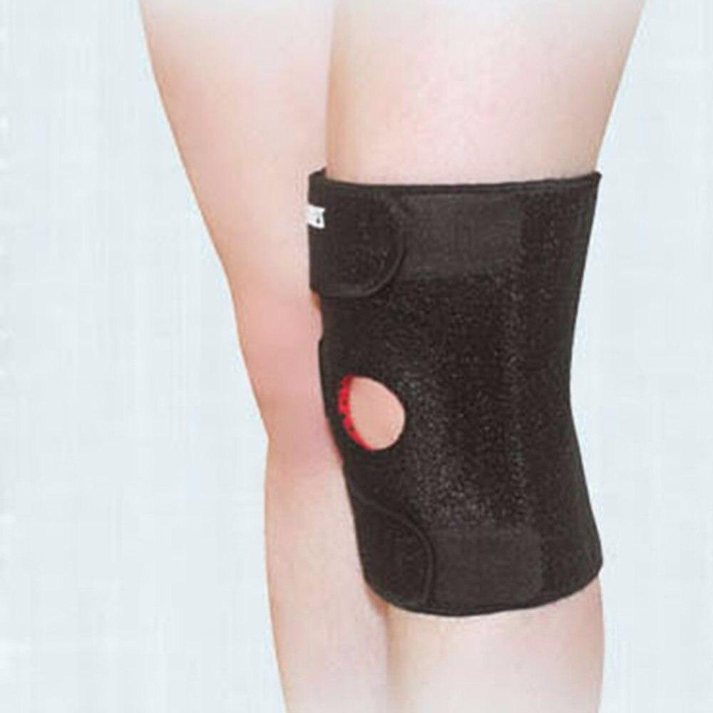 Rodilla magnética pads neopreno rótula abierta la artritis brace guardia deportiva