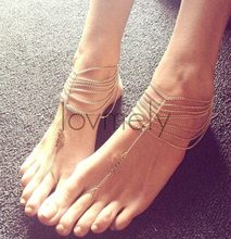 S076 Women Summer Multilayer Barefoot Sandals Slave Anklet Foot Jewelry Ankle Chain Bracelet