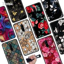 Rose Flower Vintage Flowers Black Soft Case for Oneplus 7 Pro 7 6T 6 Silicone TPU Phone Cases Cover Coque Shell