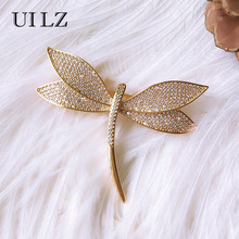 UILZ Fashion Handmade Dragonfly Brooches For Women Crystal Cubic Zircon Brooch  Pin Lady Costume Jewelry Mother 29ebefc26dd6