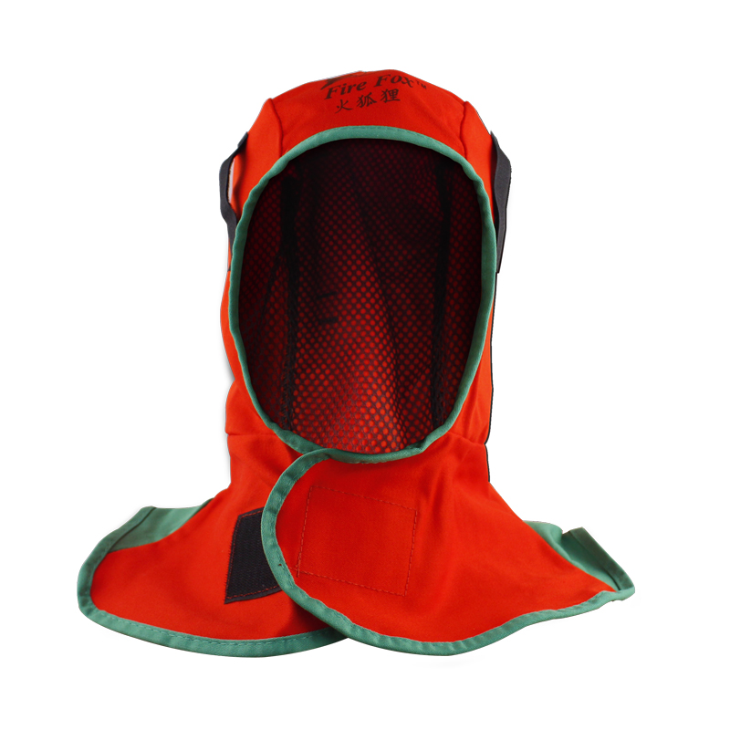 welding cap Fire fox red flame retardant cloth Welder cap Welding Hood thin breathable water wash