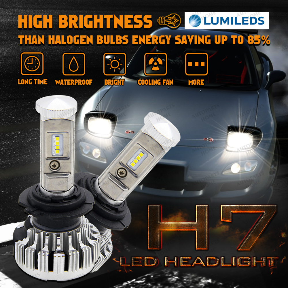 Led philips chips car light h7 headlight 70w 80w 120w 160w heap lamp hi low beam error free canbus bulbs for toyota honda vw