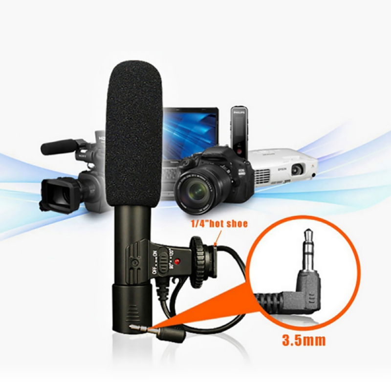 3.5mm Camera Microphone VLOG Photography Interview Digital Video Recording Microphone For Nikon Canon DSLR Camera