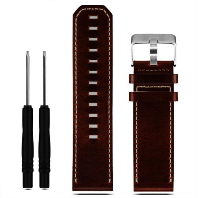 Splendid Luxury Leather Strap Replacement Watch Band With Tools For Garmin Fenix 3 10 colors soft silicone wristband strap replacement wrist watch band strap with tools for garmin fenix 3 hr watchbands straps
