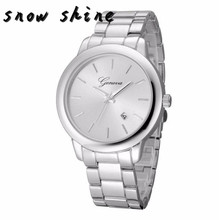 snowshine #10   Luxury Fashion Women's Crystal Stainless Steel Quartz Analog Wrist Watch   free shipping