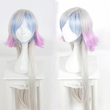 Fate/Grand Order Merlin Cosplay Wig Long Straight Silver Blue Purple Gradient Synthetic Hair for Halloween Party Gift(China)