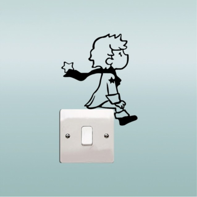 Little Prince Switch Stickers For Children Room Wall Stickers Home DIY 5 Colors