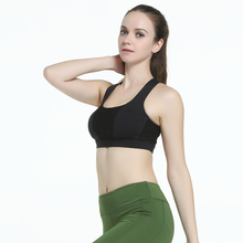 Sexy Lady Breathable Sports Bra Cross Bandage Yoga Push-up Underwear Top