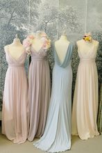 2017 Cheap Elegant Bridesmaid Dress A-line V-neck Chiffon New Arrival Long Bridesmaid Dresses