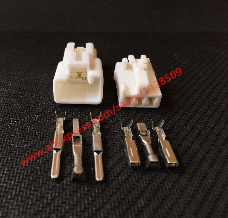 10 Sets 3 Pin Yazaki 7282 1030 Wire Connector Female And Male Electrical Connector Reading Lamp