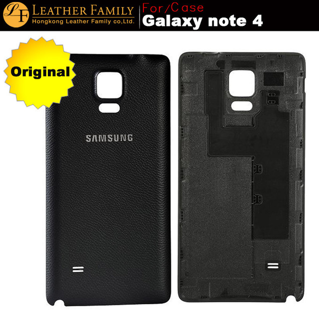 online store ffa06 c5b13 US $10.99 |Original for galaxy Note 4 Plastic Battery Back Cover For  Samsung Galaxy Note 4 Case for galaxy note4 battery cover newest 2016 on ...