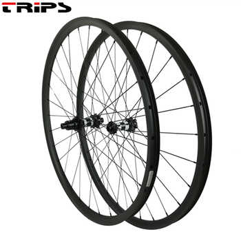 carbon mtb wheels 29er 27mm width asymmetric XC mountain bike carbon wheelset 350 center lock boost hubs mtb bicycle wheels 1420 - DISCOUNT ITEM  20 OFF Sports & Entertainment