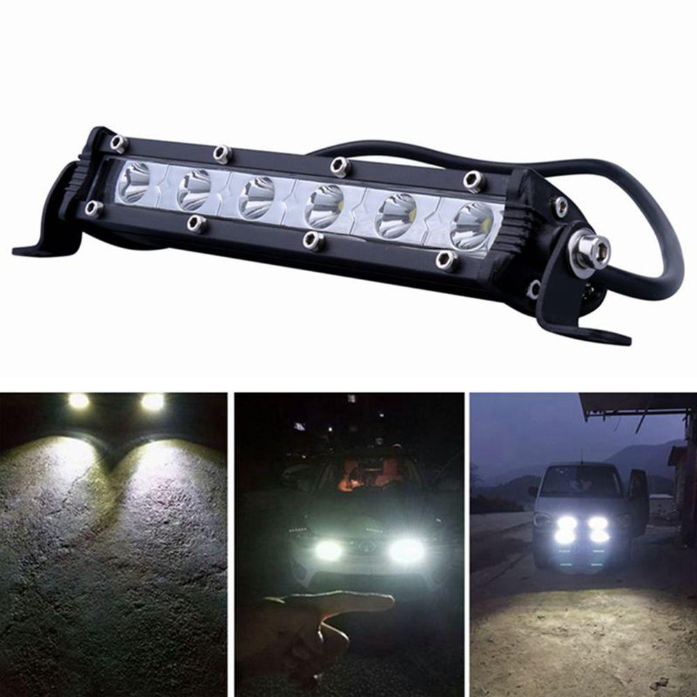 ISincer 24 W coche llevó la barra de luz de trabajo LED Chips impermeable Offroad coche bombilla de trabajo FARO ATV SUV 4WD barco camión Jeep BMW