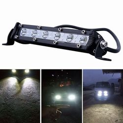 iSincer 24W Car LED Work Light Bar led Chips Waterproof Offroad Car Work Bulb headlight ATV SUV 4WD Boat Truck for Jeep BMW