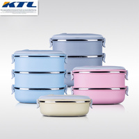 KuBac Container For Food Storage Thermal Lunch Boxs Stainless Steel Japanese Bento Box Portable Picnic With